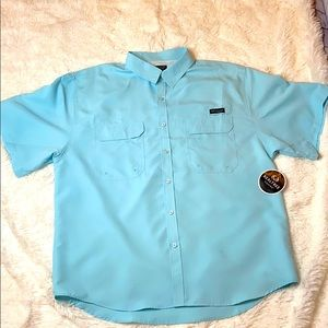 Realtree Fishing Men's Short Sleeved Button down
